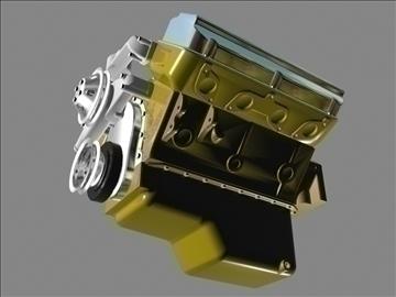 erkən chrysler hemi v8 mühərriki 3d model 3ds dxf 88001