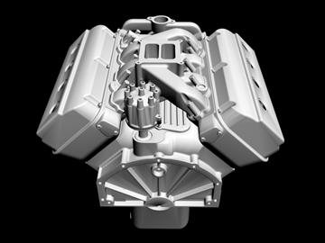 erkən chrysler hemi v8 mühərriki 3d model 3ds dxf 88009