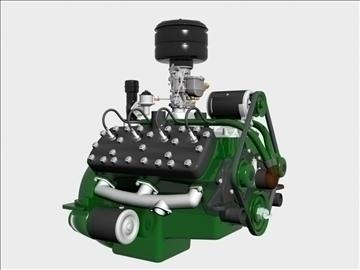 rani flathead v8 motor 3d model 3ds dxf 109552