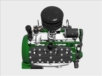 rani flathead v8 motor 3d model 3ds dxf 109556