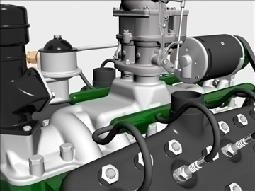 rani flathead v8 motor 3d model 3ds dxf 109557