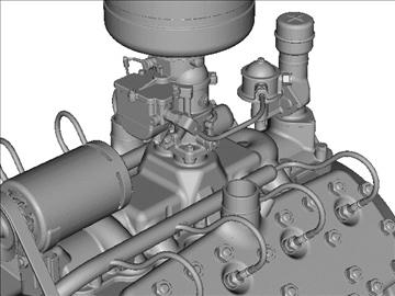 rani flathead v8 motor 3d model 3ds dxf 109558