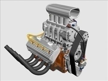 rani hemi v8 s ventilatorom 3d model 3ds dxf 88174