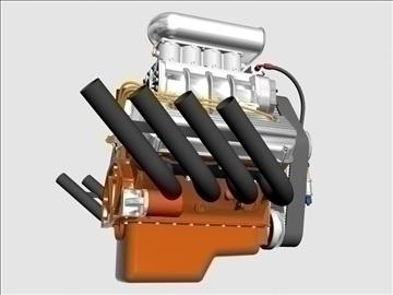 rani hemi v8 s ventilatorom 3d model 3ds dxf 88175