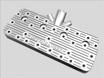 early offenhauser cylinder head 3d model 3ds dxf 88238