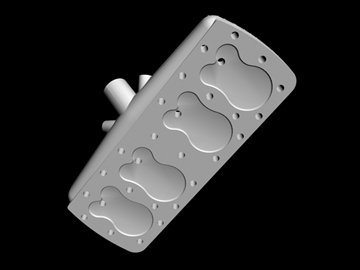early offenhauser cylinder head 3d model 3ds dxf 88240