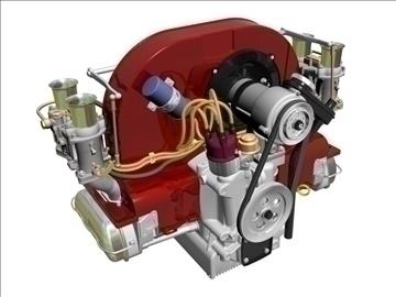plosnati 4 weber carb motor 3d model max dxf 94628
