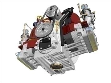 plosnati 4 weber carb motor 3d model max dxf 94630