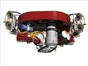 plosnati 4 weber carb motor 3d model max dxf 94631