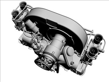 plosnati 4 weber carb motor 3d model max dxf 94632