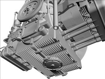 plosnati 4 weber carb motor 3d model max dxf 94633