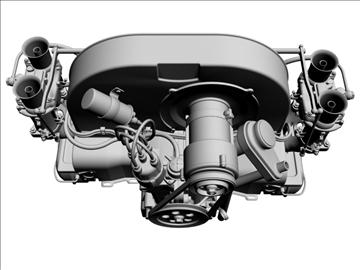 plosnati 4 weber carb motor 3d model max dxf 94634