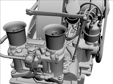 plosnati 4 weber carb motor 3d model max dxf 94635