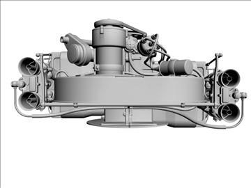 plosnati 4 weber carb motor 3d model max dxf 94636