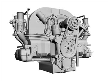 plosnati 4 weber carb motor 3d model max dxf 94637