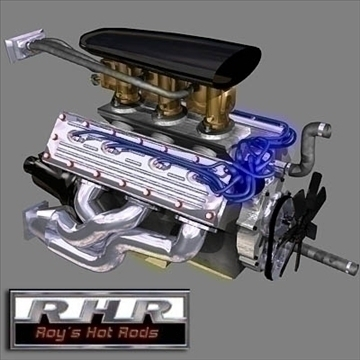 flat head hot rod motor 3d model lwo obj 81882