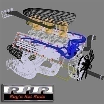flat head hot rod motor 3d model lwo obj 81884