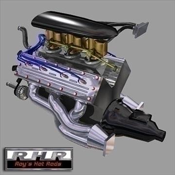 flat head hot rod motor 3d model lwo obj 81886