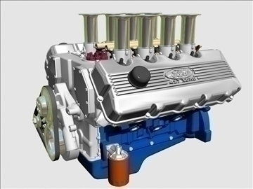 ford 427 sohc v8 engine 3d model 3ds 105546