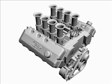 ford 427 sohc v8 engine 3d model 3ds 105547