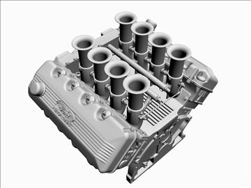ford 427 sohc v8 engine 3d model 3ds 105548