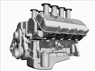 ford 427 sohc v8 engine 3d model 3ds 105549