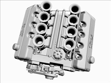 ford 427 sohc v8 engine 3d model 3ds 105551
