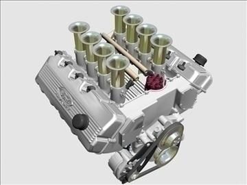 ford 427 sohc v8 engine 3d model 3ds 105552