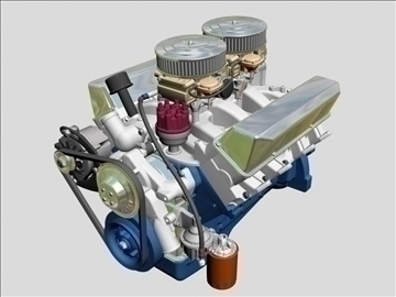 ford 427 v8 motor 3d model 3ds 105521
