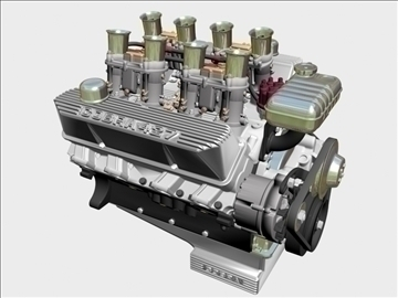 ford 427 weber v8 engine 3d model 3ds 105531