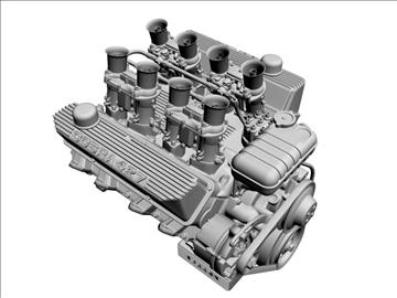 ford 427 weber v8 engine 3d model 3ds 105532