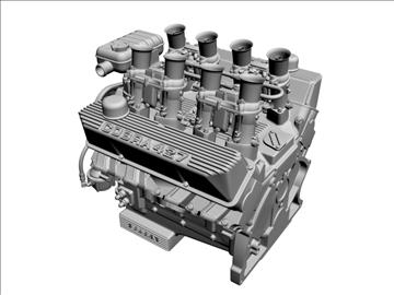 ford 427 weber v8 engine 3d model 3ds 105533