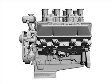 ford 427 weber v8 engine 3d model 3ds 105535