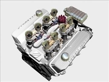 ford 427 weber v8 engine 3d model 3ds 105537