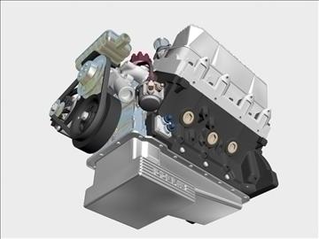 ford 427 weber v8 engine 3d model 3ds 105538