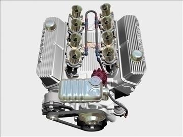 ford 427 weber v8 engine 3d model 3ds 105539