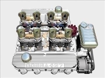 ford 427 weber v8 engine 3d model 3ds 105540