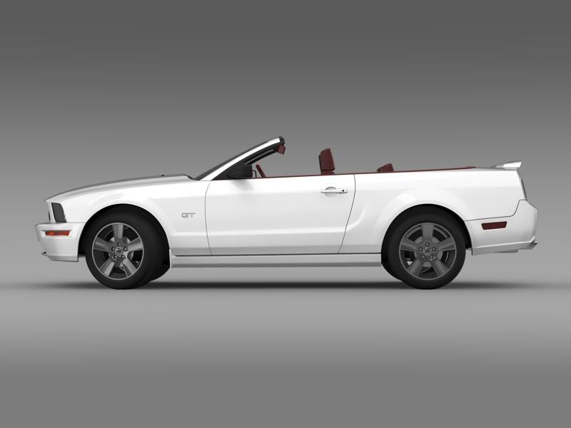 ford mustang convertible gt 2005 3d model 3ds max fbx c4d lwo ma mb hrc xsi obj 143226