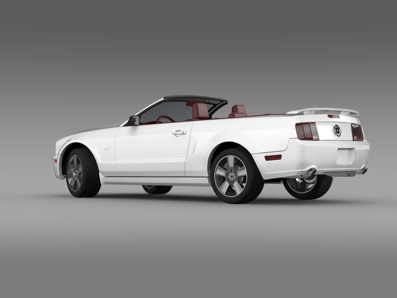 ford mustang convertible gt 2005 3d model 3ds max fbx c4d lwo ma mb hrc xsi obj 143227