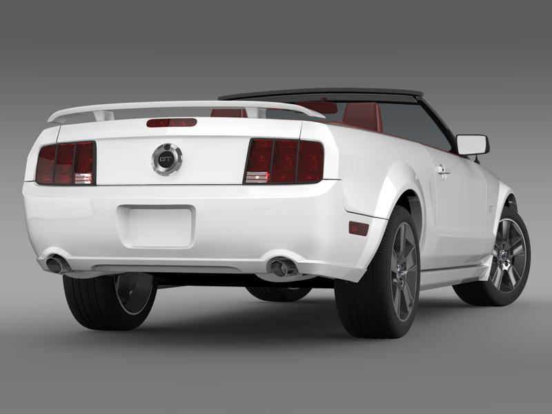 ford mustang convertible gt 2005 3d model 3ds max fbx c4d lwo ma mb hrc xsi obj 143229