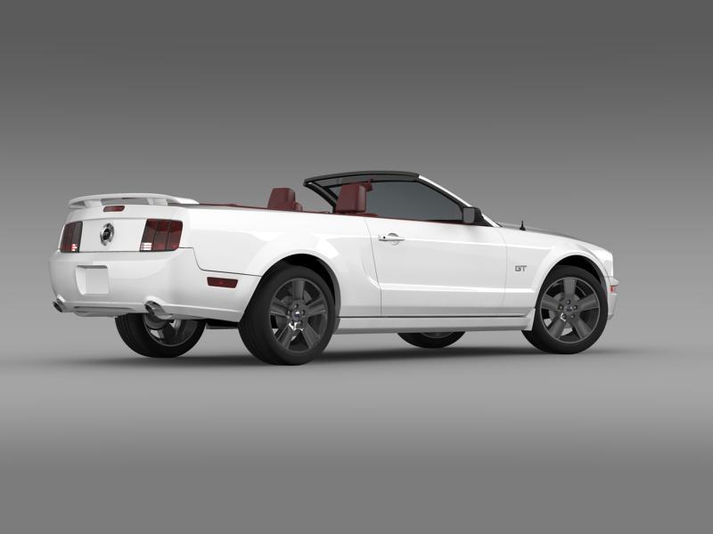 ford mustang convertible gt 2005 3d model 3ds max fbx c4d lwo ma mb hrc xsi obj 143231