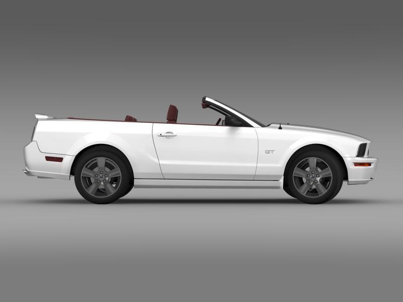 ford mustang convertible gt 2005 3d model 3ds max fbx c4d lwo ma mb hrc xsi obj 143232