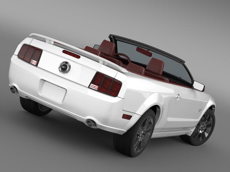 ford mustang convertible gt 2005 3d model 3ds max fbx c4d lwo ma mb hrc xsi obj 143236