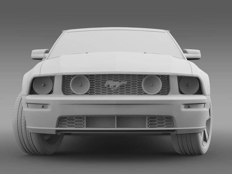 ford mustang convertible gt 2005 3d model 3ds max fbx c4d lwo ma mb hrc xsi obj 143237