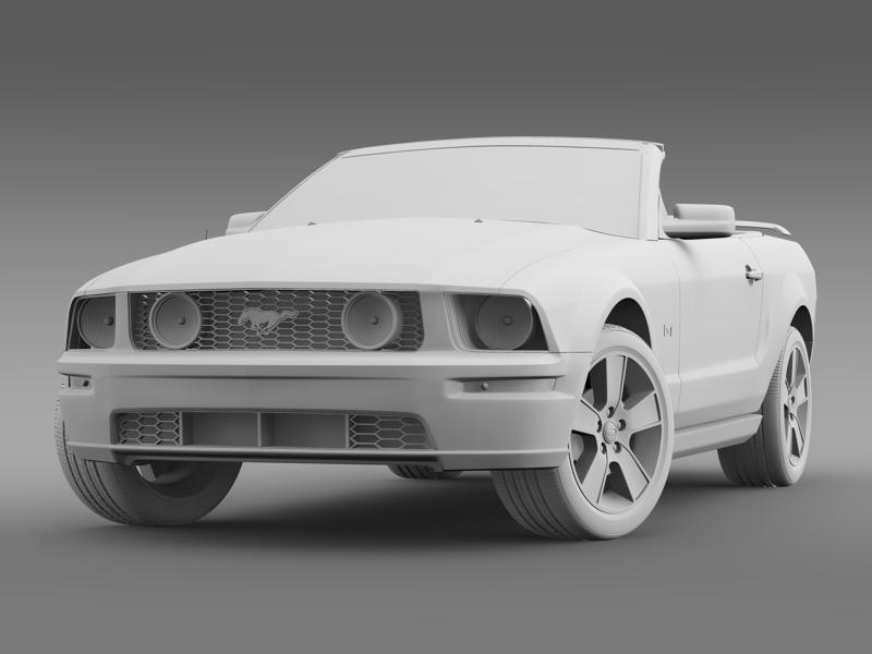 ford mustang convertible gt 2005 3d model 3ds max fbx c4d lwo ma mb hrc xsi obj 143238