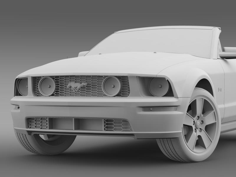 ford mustang convertible gt 2005 3d model 3ds max fbx c4d lwo ma mb hrc xsi obj 143239