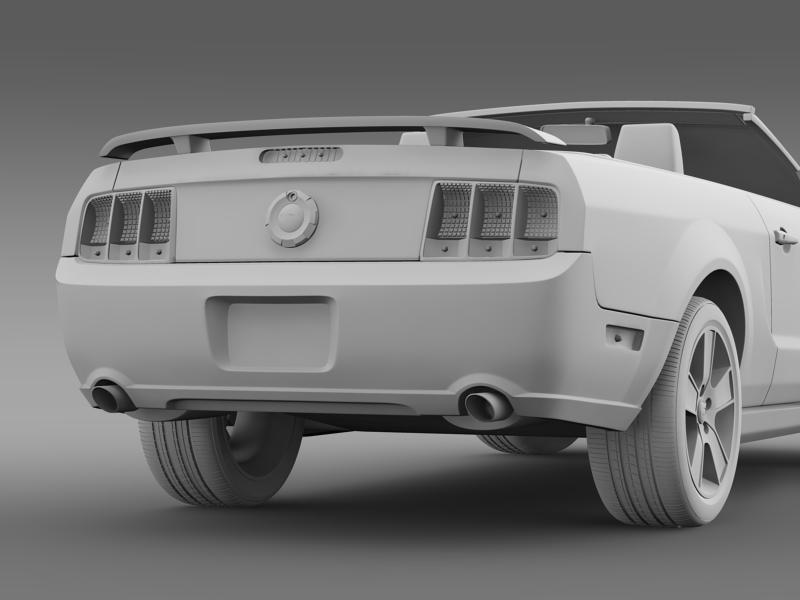 ford mustang convertible gt 2005 3d model 3ds max fbx c4d lwo ma mb hrc xsi obj 143240