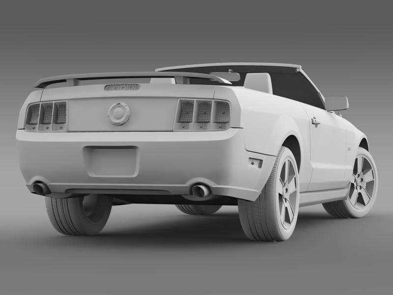 ford mustang convertible gt 2005 3d model 3ds max fbx c4d lwo ma mb hrc xsi obj 143241