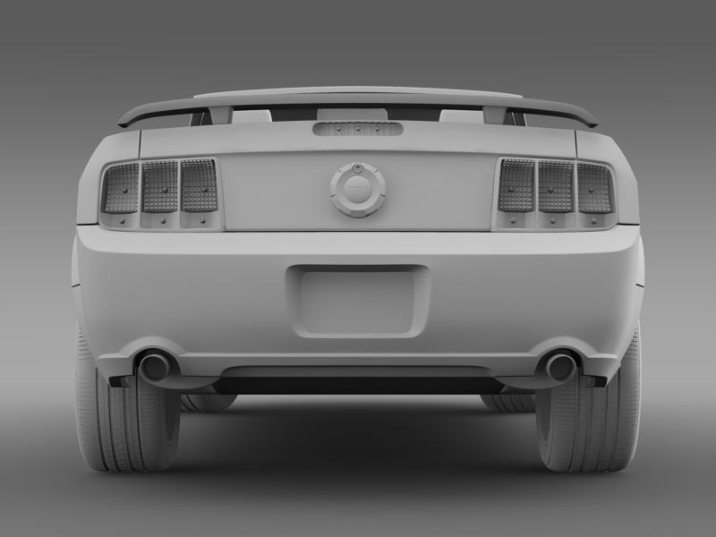 ford mustang convertible gt 2005 3d model 3ds max fbx c4d lwo ma mb hrc xsi obj 143242