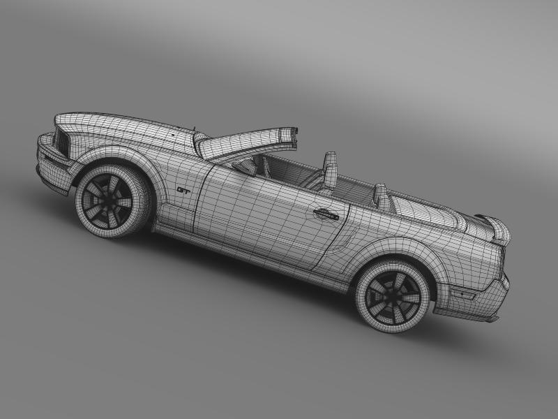 ford mustang convertible gt 2005 3d model 3ds max fbx c4d lwo ma mb hrc xsi obj 143244